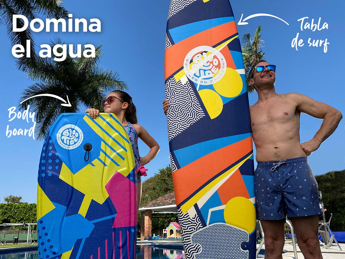 Domina el agua Body board tabla de surf