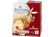 Queso Manchego Noche Buena Rebanado 3 pzas de 400 g c/u