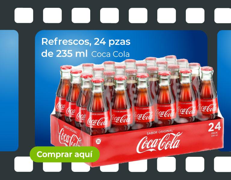 Refrescos, 24 pzas de 235 ml. Cola Cola