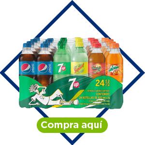Refrescos, mix de 24 pzs de 600 ml. Pepsi