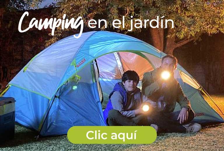 Camping en el jardín