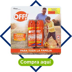 Repelente para insectos en aerosol, 2 pzs. Off