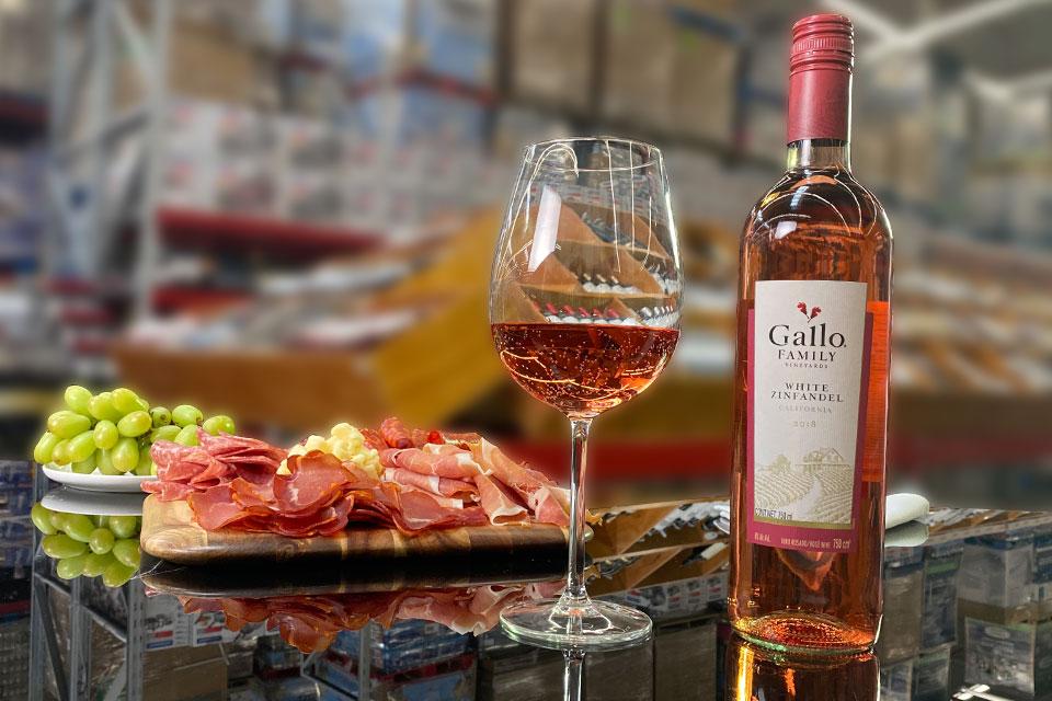El vino rosado White Zinfandel