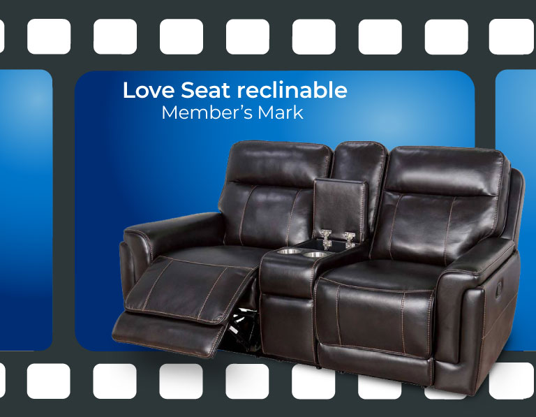 Love Seat reclinable Member´s Mark
