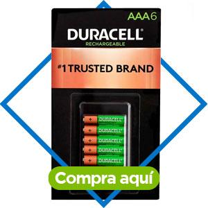 Duracell, Pilas AAA recargables 6 piezas