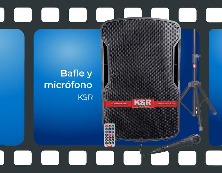 Bafle y micrófono KSR
