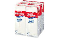 Leche Evaporada Carnation Clavel Nestlé 4 pzas de 1 l