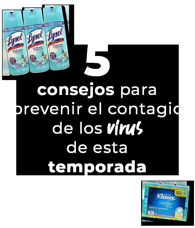 5 consejos para prevenir el contagio de los virus de esta temporada
