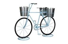 Bicicleta Decorativa Member´s Mark con Macetas Azul