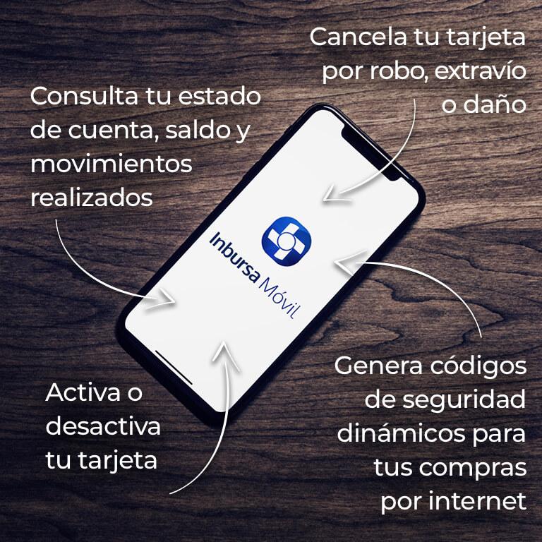 Realiza tus transacciones desde la app Inbursa Móvil