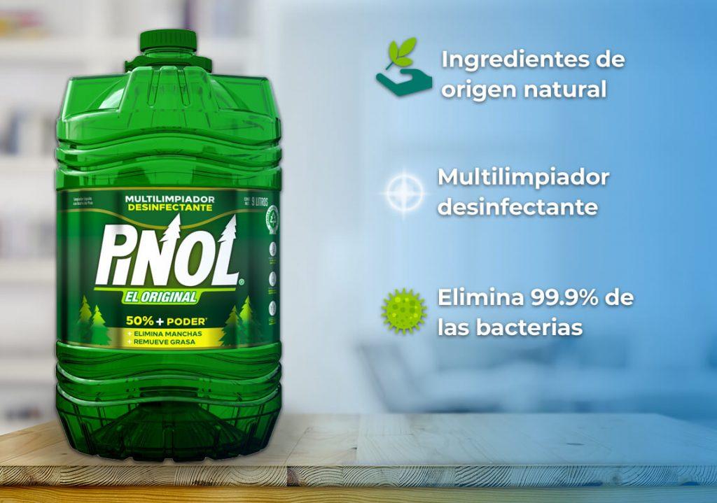 Mantén tu casa brillante con Pinol