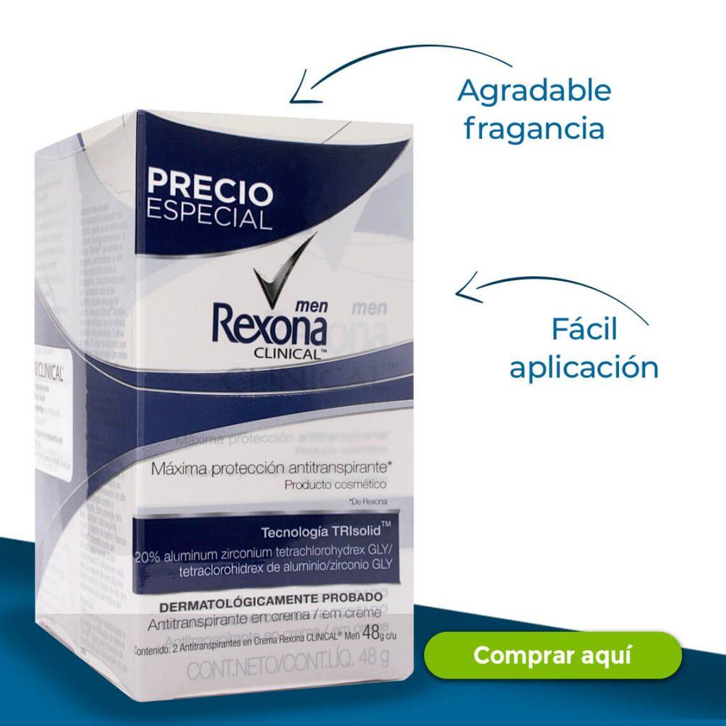 Rexona -Agradable fragancia -Fácil aplicación