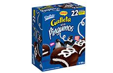 Galletas Pingüinos, 22 paquetes de 40 g, Marinela