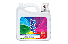 Detergente líquido, 10 l, Mas Color