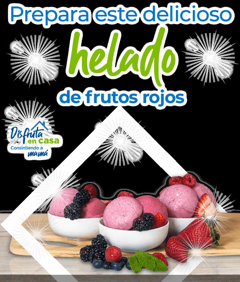 Prepara este delicioso helado de frutos rojos