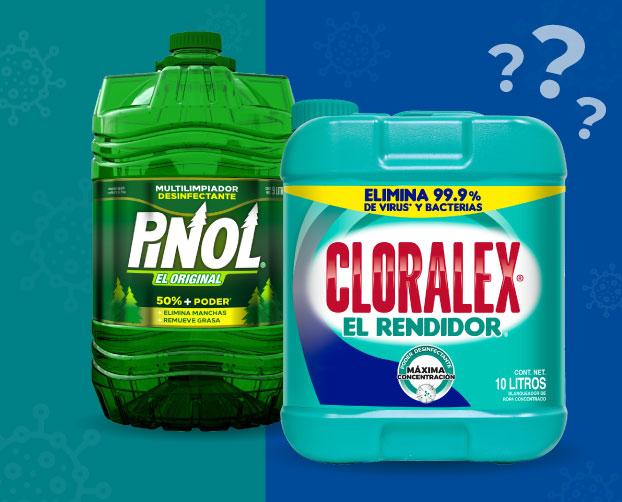 Cloralex  y Pinol