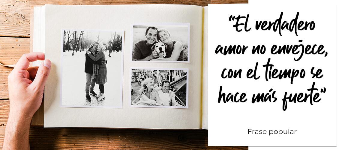 """""""El verdadero amor no envejece, con el tiempo se hace más fuerte"""". Frase popular"""