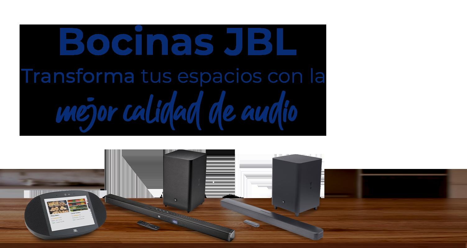 Transforma tus espacios con la mejor calidad de audio de las bocinas JBL