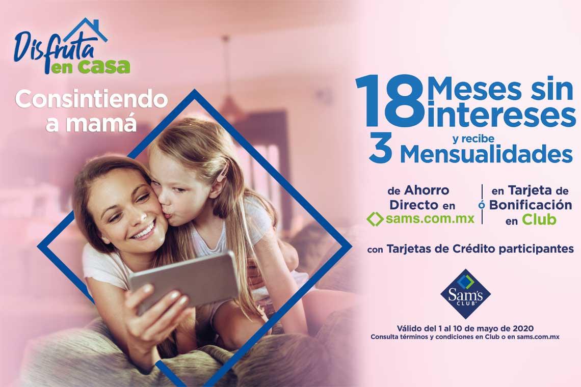 18 mensualidades sin interese y recibe 3 mensualidades, válido del 1 al 10 de mayo de 2020