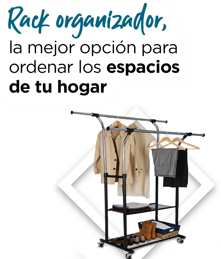 Rack organizador, la mejor opción para ordenar los espacios de tu hogar