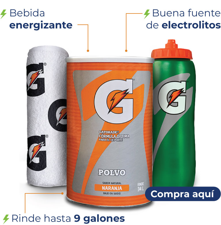 -Bebida energizante -Buena fuente de electrolitos -Rinde hasta 9 galones
