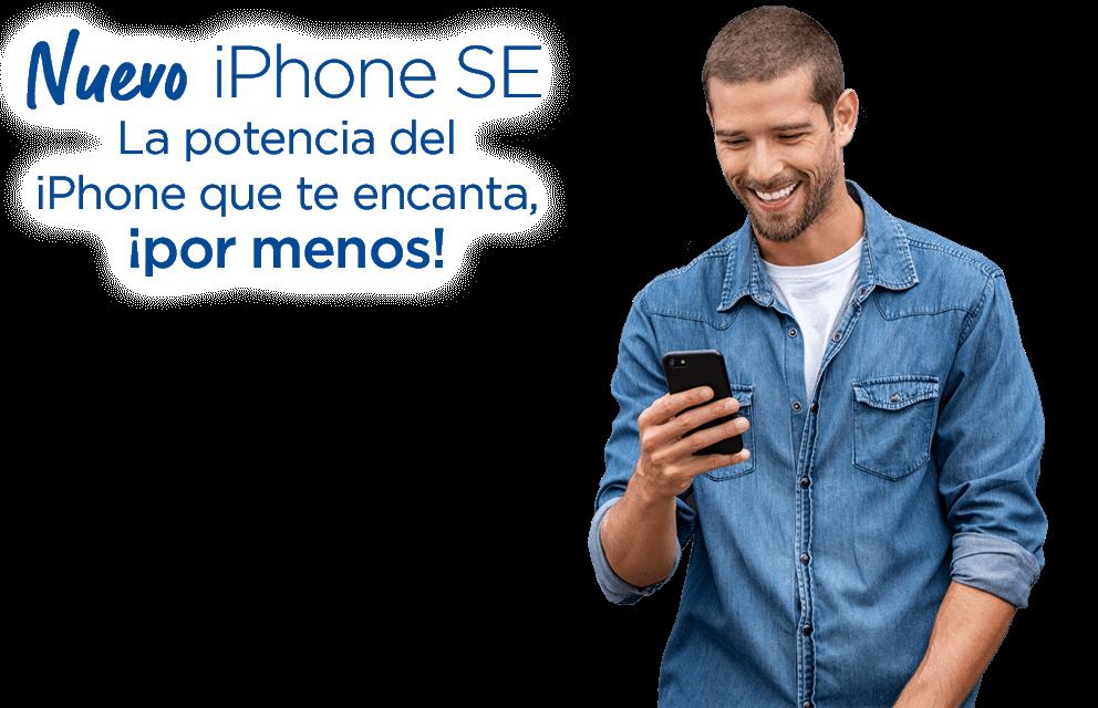 Nuevo iPhone SE. La potencia del iPhone que te encanta, ¡Por menos!