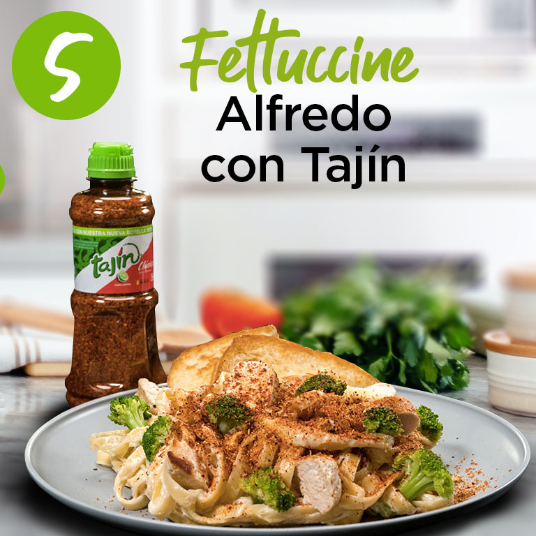 Fettuccine Alfredo con Tajín
