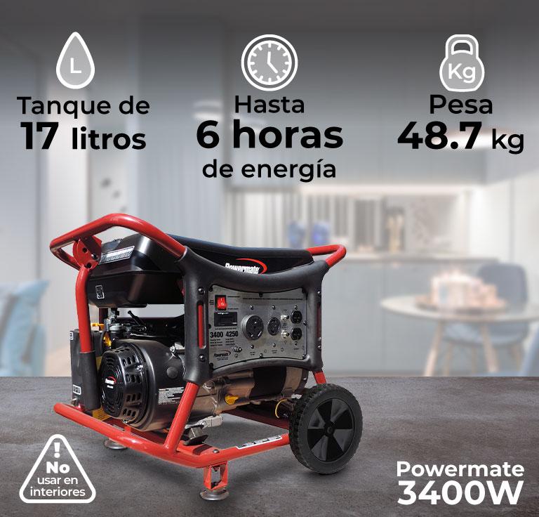 Generador de luz, Powermate 3400W, para el hogar