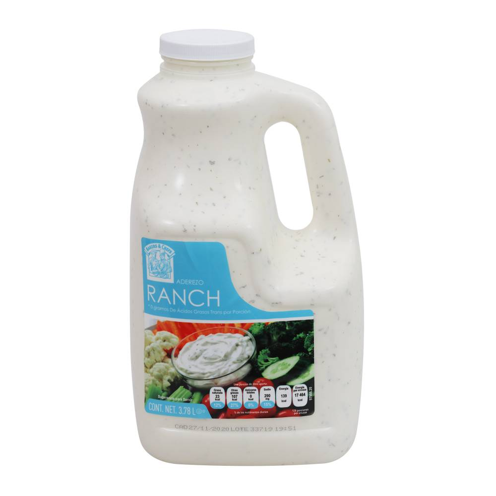 3.78 L  BC ADEREZO RANCHBAKERS & CHEFS