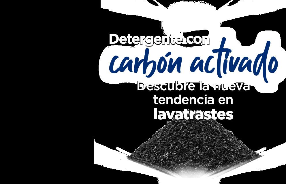 Detergente con carbón activado. Descubre la nueva tendencia en lavatrastes.