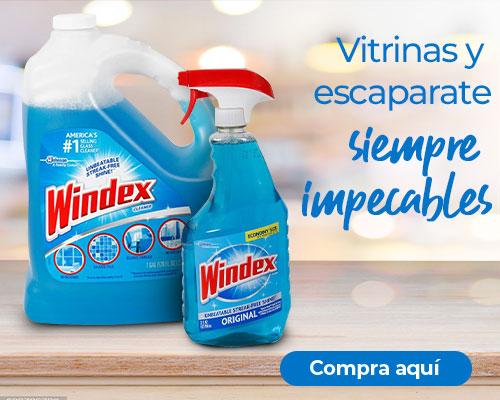 Vitrinas y escaparates siempre impecables con Windex