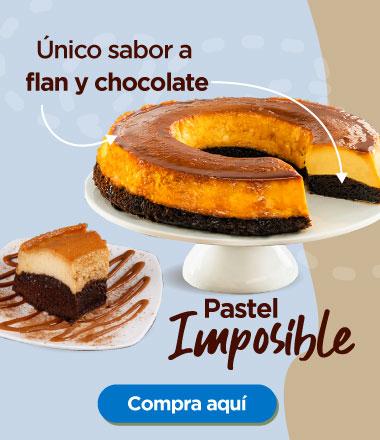 Pastel imposible. Único sabor a flan y chocolate