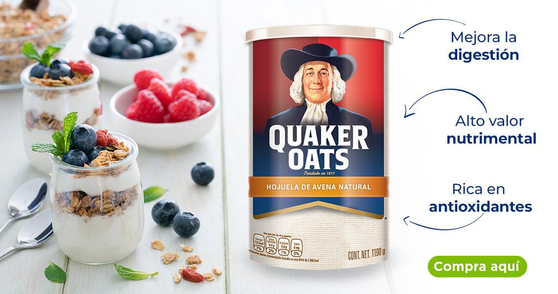 Avena Quaker, perfecta para iniciar los días