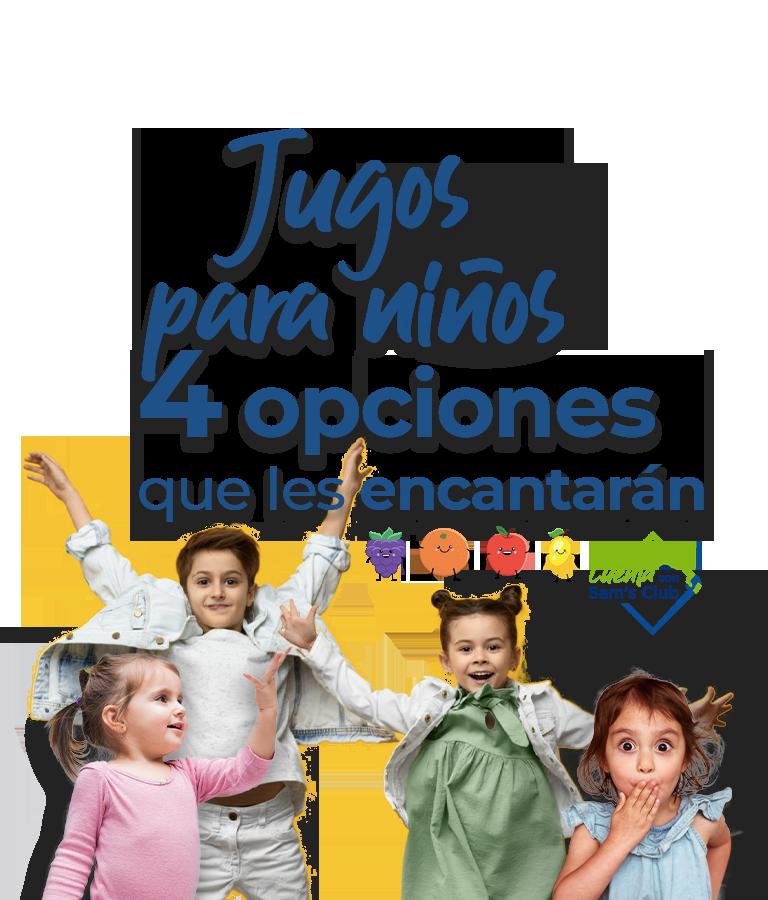 jugos para niños, 4 opciones que les encantarán