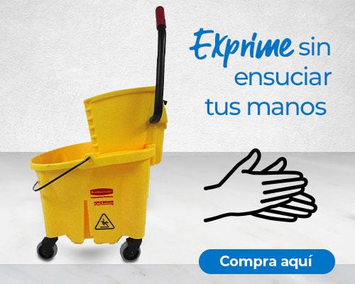 Exprime sin ensuciar tus manos con el equipo de limpieza