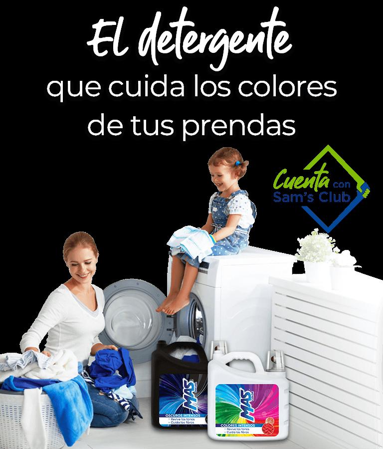 Mas Color, el detergente para ropa que cuida los colores de tus prendas