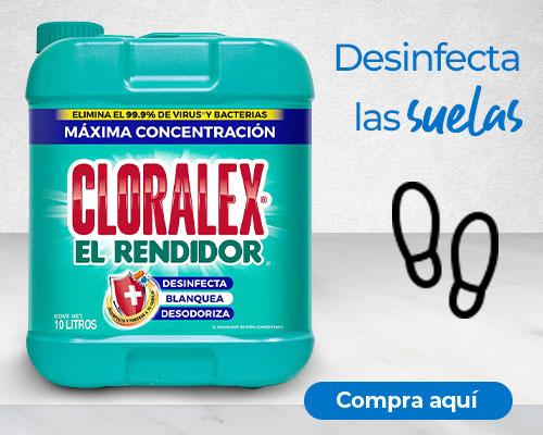 Deinfecta las suelas de los zapatos con Cloralex El Rendidor