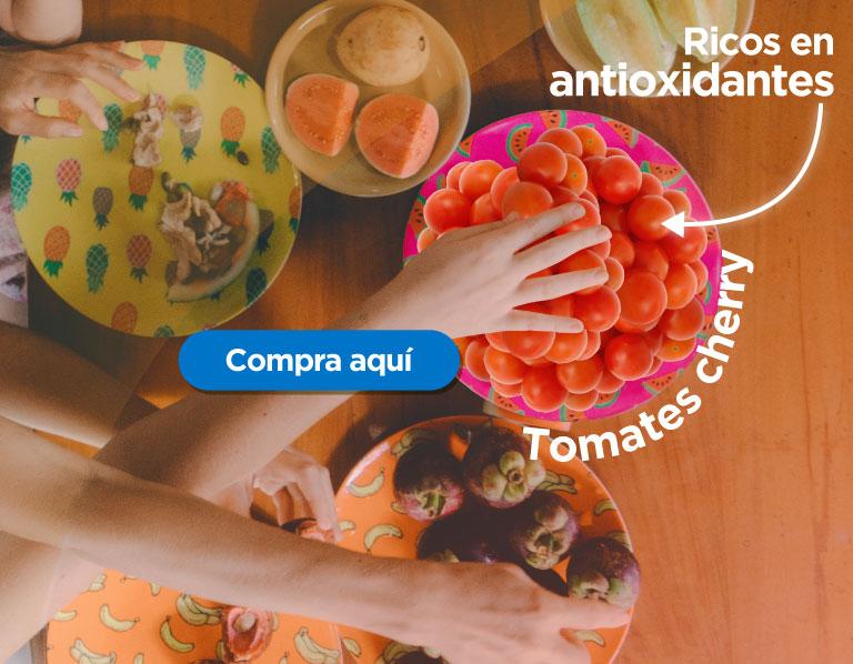 Tomate cherry, rico en antioxidantes