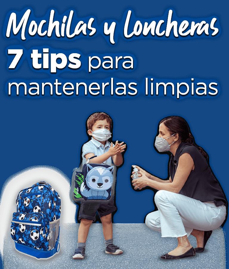Mochilas y lonchas. 7 tips para mantenerlas limpias