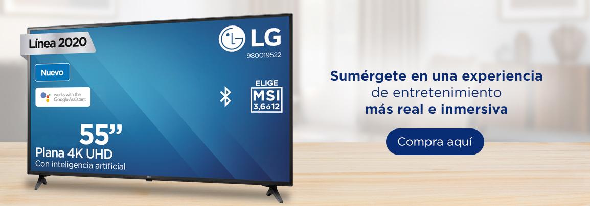 "LG Pantalla 55"" Smart TV AI ThinQ UHD 4K Inteligencia Artificial"