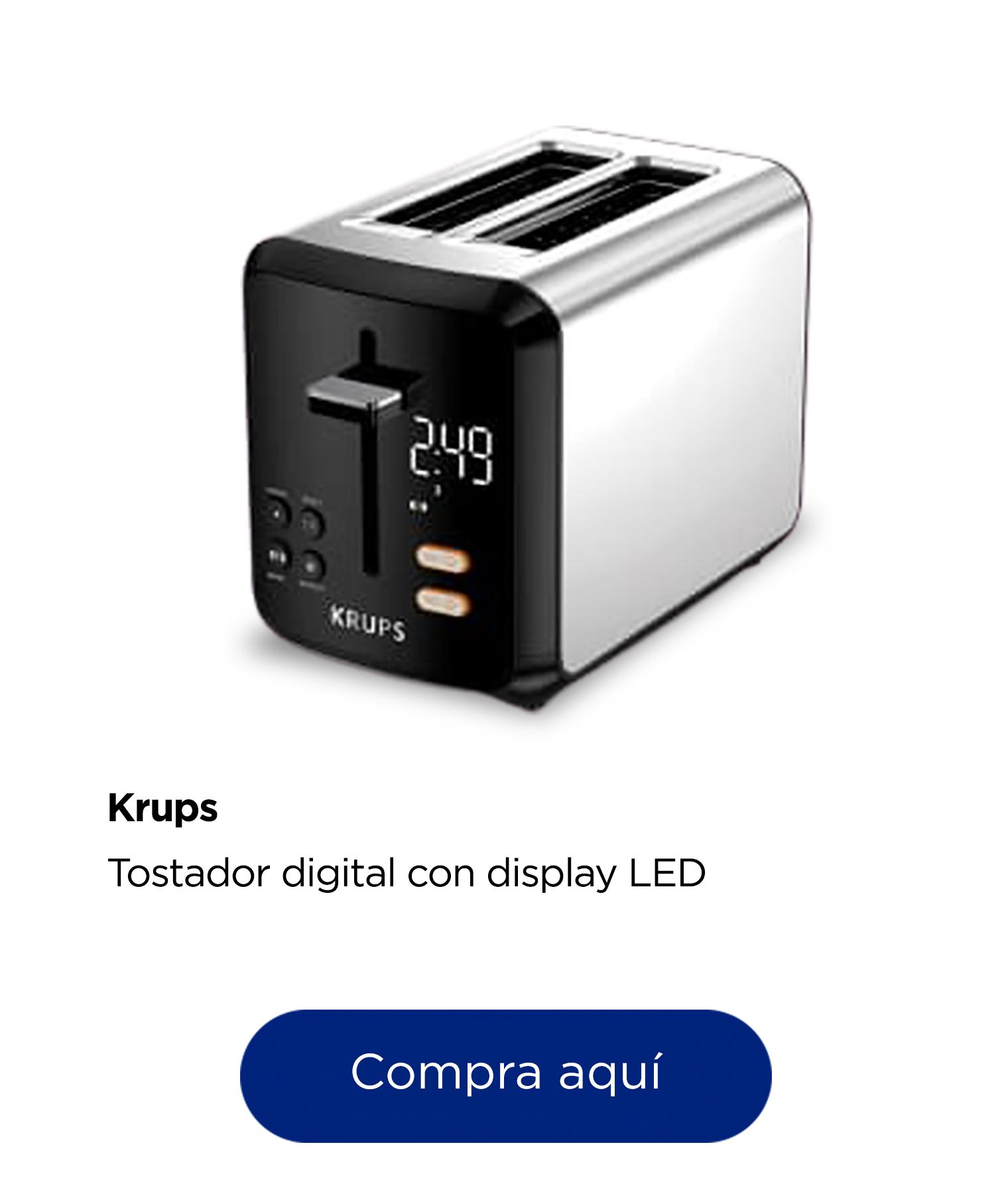 Krups Tostador Digital con Display LED