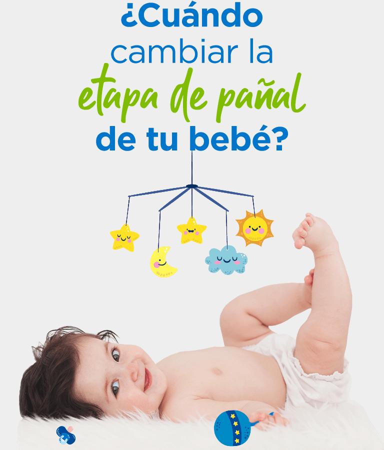 ¿Cuándo cambiar la etapa de pañal de tu bebé?