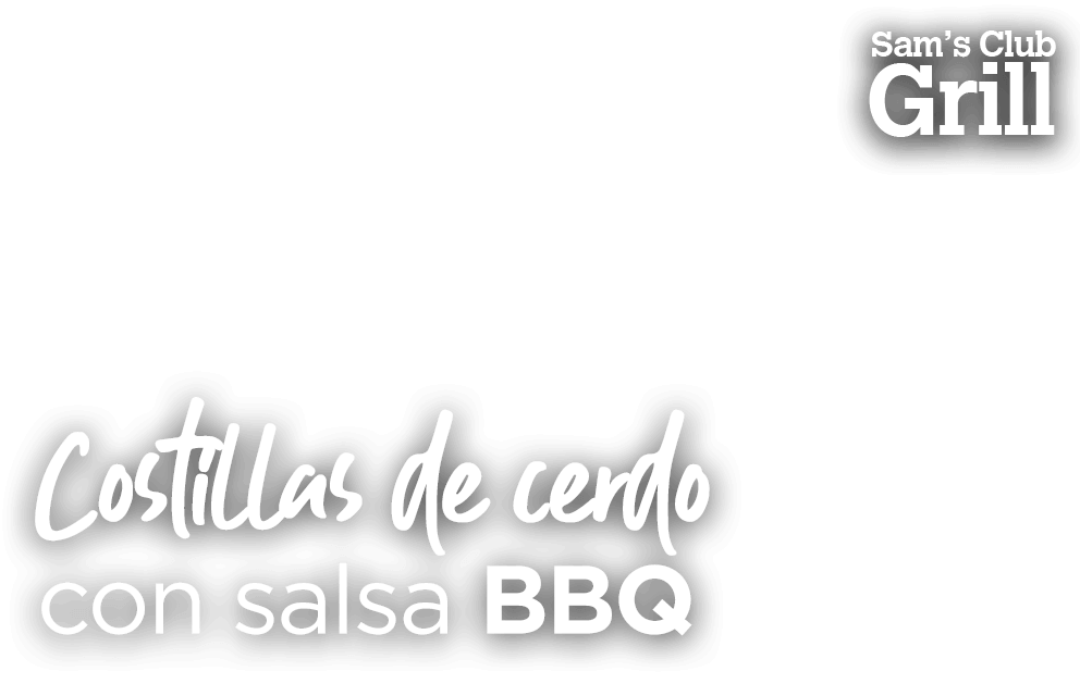 Costilla de cerdo con salsa BBQ