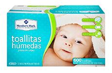 Toallitas húmedas, 6 paquetes de 100 pzas. Member's Mark.