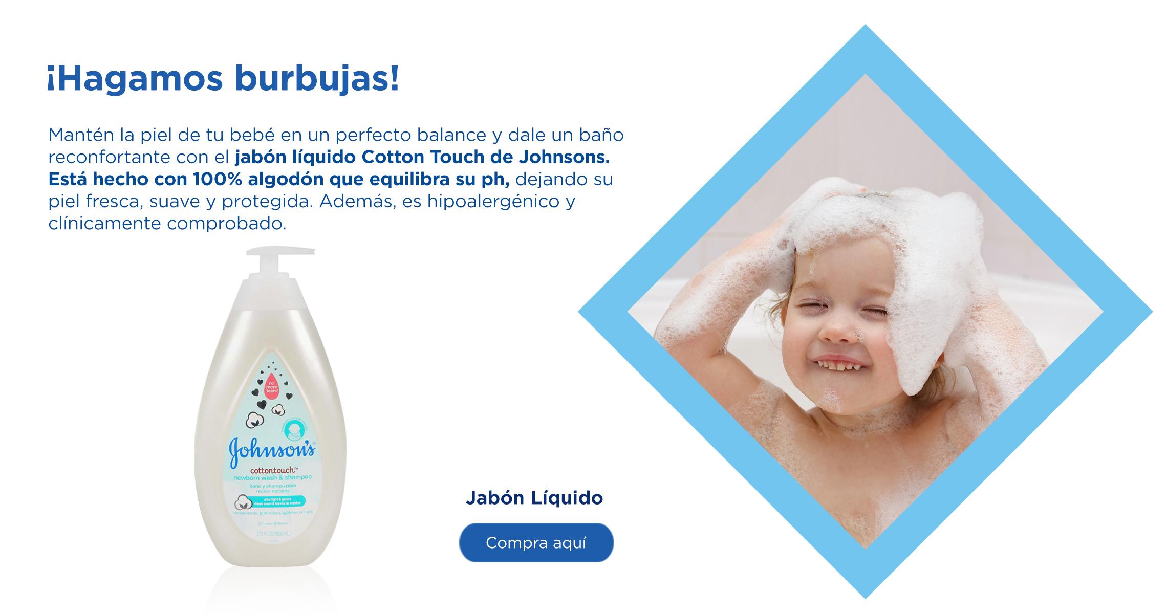 jabón para bebé