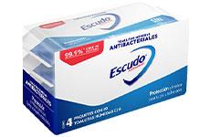 Toallitas húmedas antibacterial, 50 pzas. Escudo