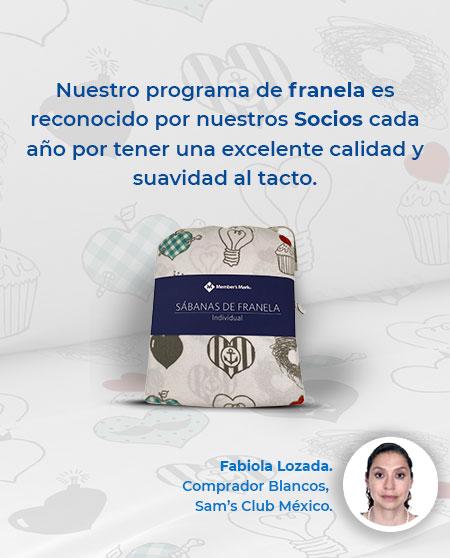 Nuestro programa de franela es reconocido por nuestros Socios cada año por tener una excelente calidad y suavidad al tacto.