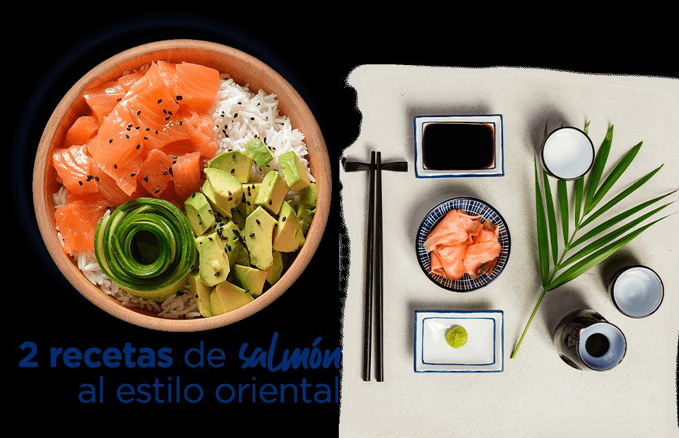 2 recetas de salmón al estilo oriental