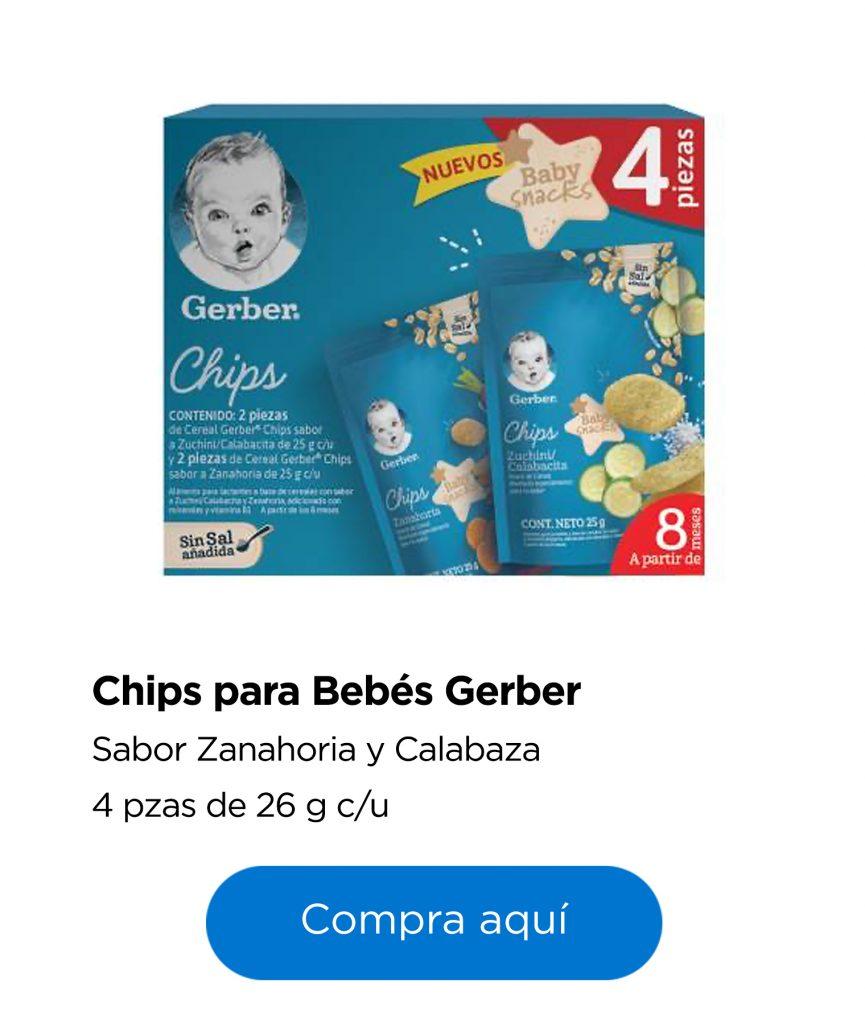 Chips para bebé Gerber