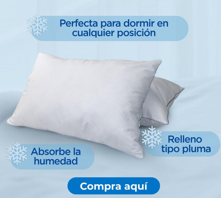 -Relleno tipo pluma -Absorbe la humedad -Perfecta para dormir en cualquier posición